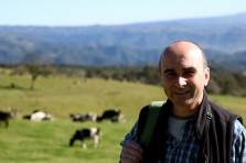 Happy Philip on pasture with the cows 3