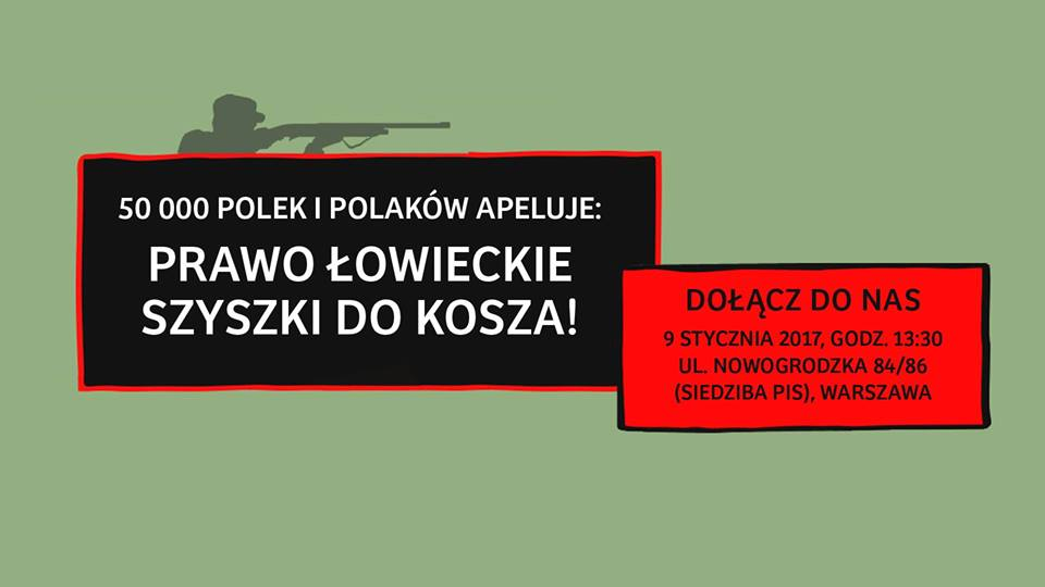 Protest przeciwko nowelizacji prawa łowieckiego!