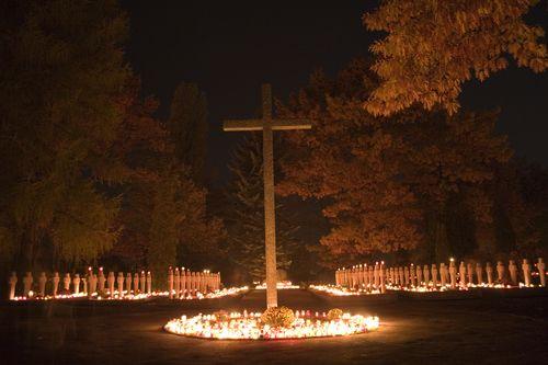 Polish war cementary in All Saints Day
