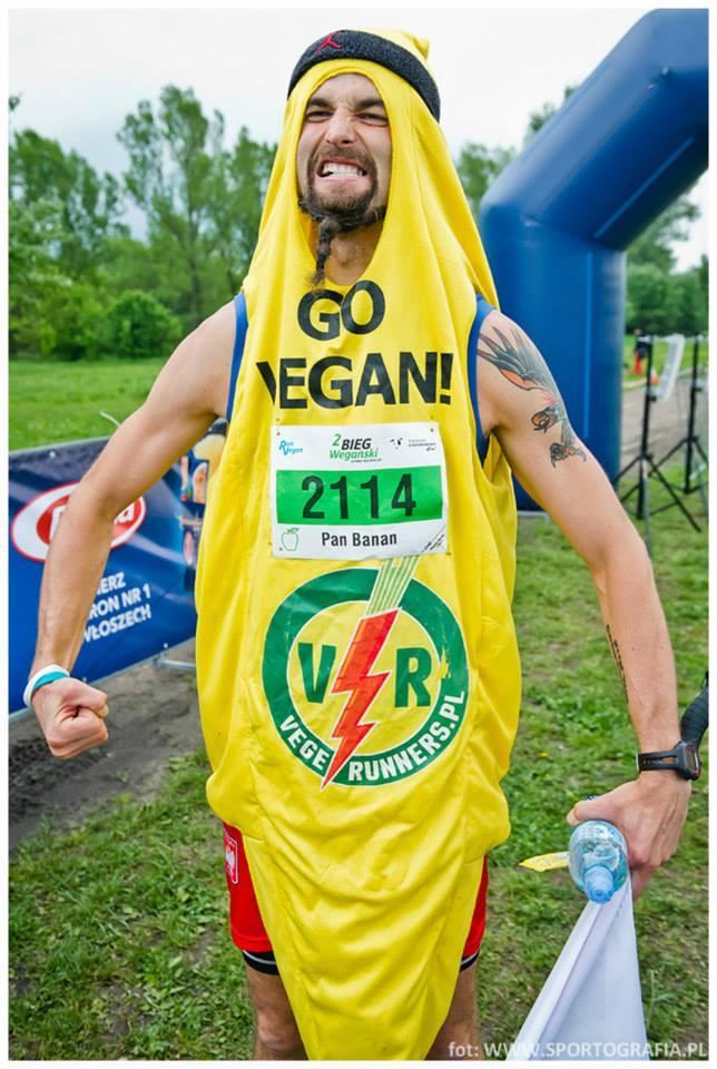 II edycja Biegu Wegańskiego, Veganowy Pan Banan na mecie